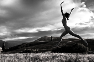 Nude Photograph Woman Flying