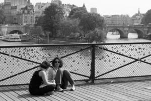 Passion Paris Black and White Photograph
